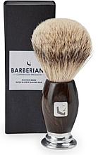 Düfte, Parfümerie und Kosmetik Rasierpinsel - Barberians. Shaving Brush Silver Tip