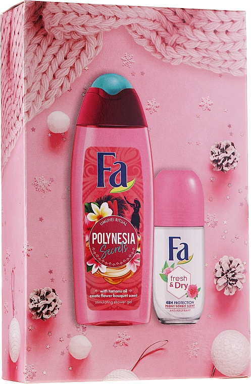 Körperpflegeset - Fa Polinesia Secrets (Duschgel 250ml + Deo Roll-on 50ml)