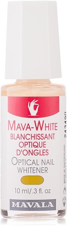 Nagellack zur optischen Aufhellung von Nägeln - Mavala Mava-White Optical Nail Whitener