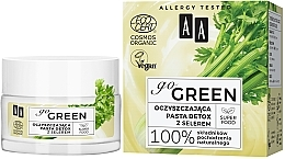 Düfte, Parfümerie und Kosmetik Entgiftende Gesichtsreinigungspaste mit Sellerie - AA Go Green