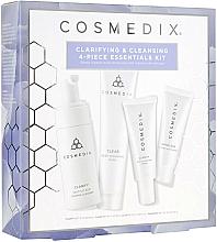 Düfte, Parfümerie und Kosmetik Gesichtspflegeset - Cosmedix Clarifying & Cleansing 4-Piece Essentials Kit (Gesichtsreiniger 60ml + Gesichtsserum 15ml + Gesichtsmaske 30g + Gesichtscreme 15ml)