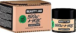 Düfte, Parfümerie und Kosmetik Augenbrauenpeeling mit Bambuspuder, Rizinusöl und Vitamin E - Beauty Jar Brow-A-Holic Eyebrow Scrub