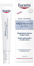 Düfte, Parfümerie und Kosmetik Revitalisierende feuchtigkeitsspendende Augenkonturcreme gegen Schwellungen und dunkle Augenringe für dehydrierte und empfindliche Haut - Eucerin Aquaporin Active Revitalizing Eye Cream