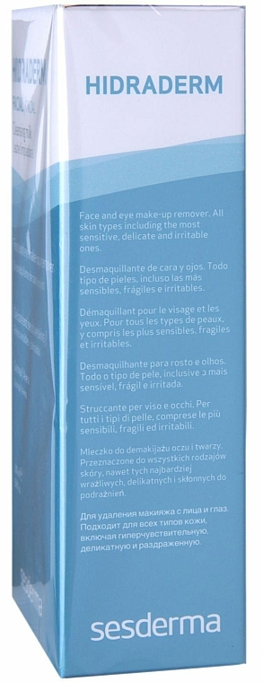 Gesichtsreinigungsmilch zum Abschminken - SesDerma Laboratories Hidraderm Cleansing Milk — Bild N3