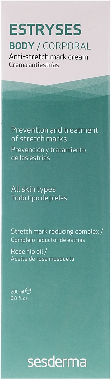 Körpercreme gegen Dehnungsstreifen - SesDerma Laboratories Estryses Anti-stretch Mark Cream — Bild N1