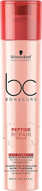 Tief pflegendes Shampoo - Schwarzkopf Professional BC Bonacure Peptide Repair Rescue Deep Nourishing Micellar Shampoo