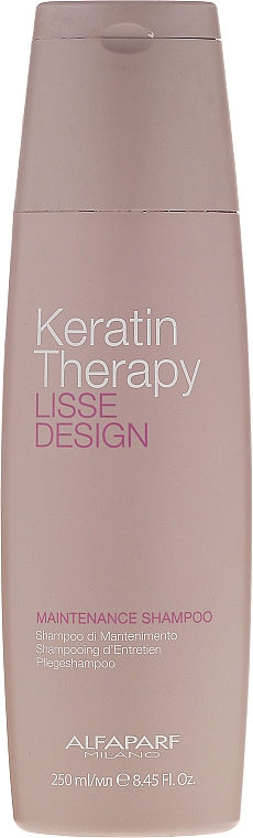 Sulfatfreies Pflegeshampoo mit Keratin - Alfaparf Lisse Design Keratin Therapy Maintenance Shampoo
