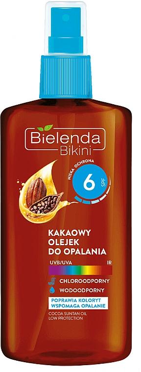 Bräunungsöl mit Kakao SPF 6 - Bielenda Bikini Cocoa Suntan Oil Low Protection — Bild N1