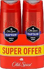 Düfte, Parfümerie und Kosmetik 2in1 Shampoo und Duschgel für Männer - Old Spice Captain Shower Gel + Shampoo