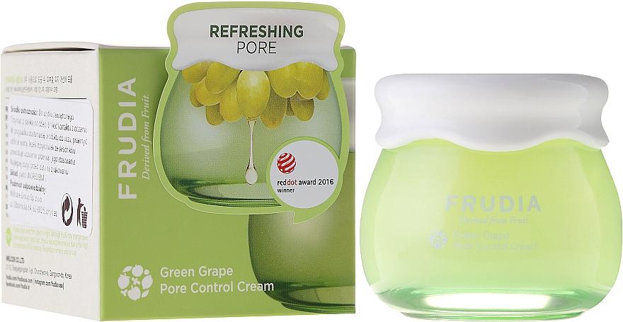 Porenverfeinernde und feuchtigkeitsspendende Gesichtscreme mit grünem Traubenextrakt - Frudia Pore Control Green Grape Cream