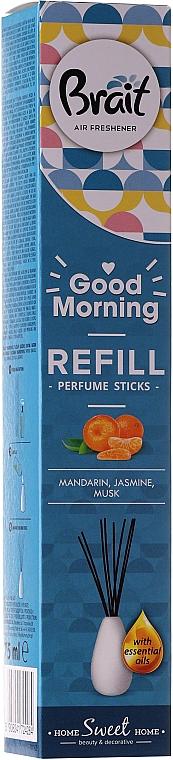 Raumerfrischer Mandarine, Moschus und Jasmin - Brait Home Sweet Home Refreshing Sticks Good Morning (Refill) — Bild N1