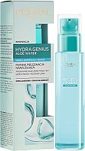 Düfte, Parfümerie und Kosmetik Feuchtigkeitsspendendes Aloe-Wasser für normale bis trockene Haut - L'Oreal Paris Hydra Genius Aloe Water