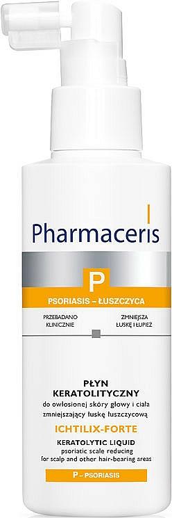 Behandlung gegen Psoriasis und chronische Schuppenbildung auf der Kopfhaut und anderen behaarten Bereichen - Pharmaceris P Ichtilix Forte