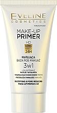 Düfte, Parfümerie und Kosmetik 3in1 Mattierender Make-up Primer - Eveline Cosmetics Make-up Primer 3v1