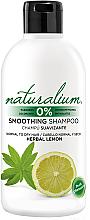 Düfte, Parfümerie und Kosmetik Glättendes Shampoo für normales und trockenes Haar mit Minze und Zitrone - Naturalium Herbal Lemon Smoothing Shampoo
