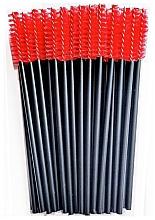 Düfte, Parfümerie und Kosmetik Wimpernbürste aus Silikon schwarz-rot - Novalia Group