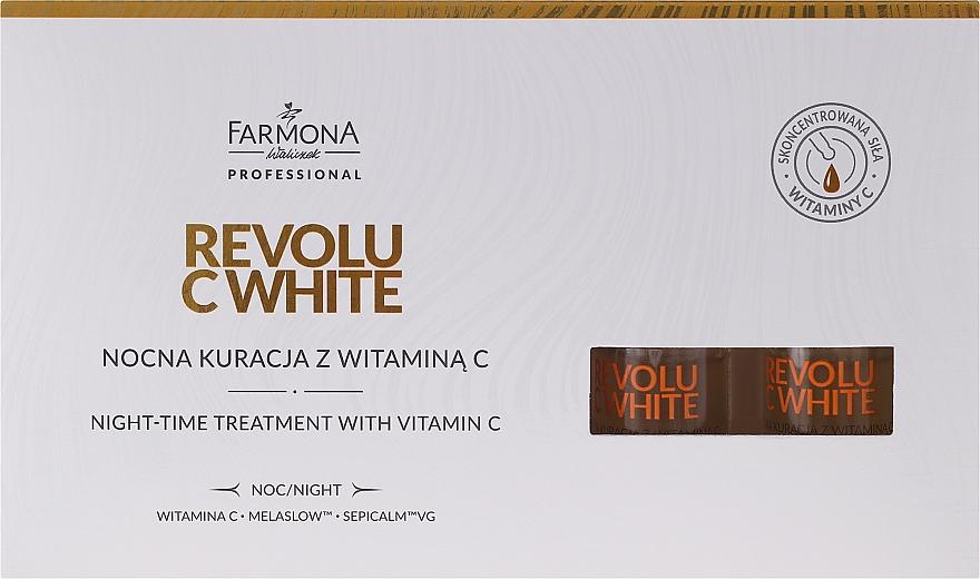 Nachtkonzentrat für das Gesicht mit Vitamin C - Farmona Professional Revolu C White