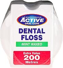 Düfte, Parfümerie und Kosmetik Gewachste Zahnseide mit Minzgeschmack 200 m - Beauty Formulas Active Oral Care Dental Floss Mint Waxed 200m