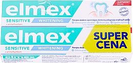 Düfte, Parfümerie und Kosmetik Aufhellende Zahnpasta mit Aminfluorid für empfindliche Zähne 2 St. - Elmex Sensitive Whitening Toothpaste (2x75ml)