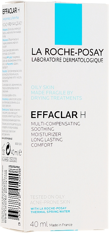 Beruhigende Gesichtscreme für empfindliche und zu Akne neigende Haut - La Roche-Posay Effaclar H Hydratant Compensateur — Bild N1