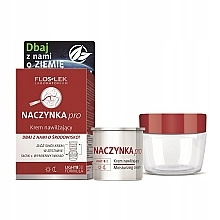 Düfte, Parfümerie und Kosmetik Gesichtspflegeset - Floslek Dilated Capillaries Moisturizing (Feuchtigkeitsspendende Gesichtscreme Refill 50ml + Cremebehälter)