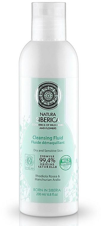 Sanftes Make-up reinigendes Gesichtsfluid mit Rosenwurz - Natura Siberica