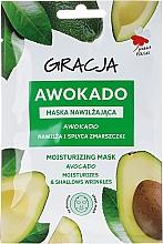 Feuchtigkeitsspendende Tuchmaske mit Avocadoöl - Gracja Moisturizing Mask — Bild N1