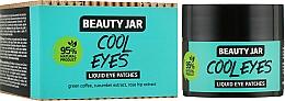 Düfte, Parfümerie und Kosmetik Augenpatches Cool Eyes mit grünem Kaffee, Gurken- und Hagebuttenextrakt - Beauty Jar Liquid Eye Patches