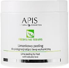 Düfte, Parfümerie und Kosmetik Fußpeeling mit Limette und vulkanischer Lava - APIS Professional Fresh Lime Terapis Lime Peeling For Feet With Volcanic Lava