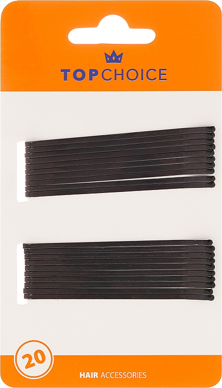 Haarklemmen schwarz 20 St. - Top Choice