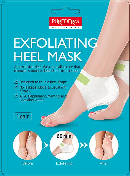 Peelingmaske für rissige Fersen - Purederm Exfolaiting Heel Mask