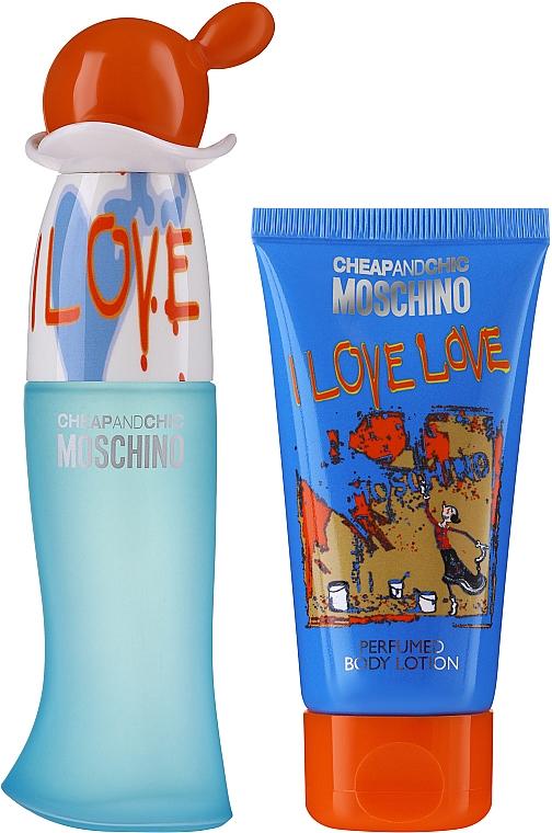 Moschino I Love Love - Duftset (Eau de Toilette 30ml + Körperlotion 50ml)