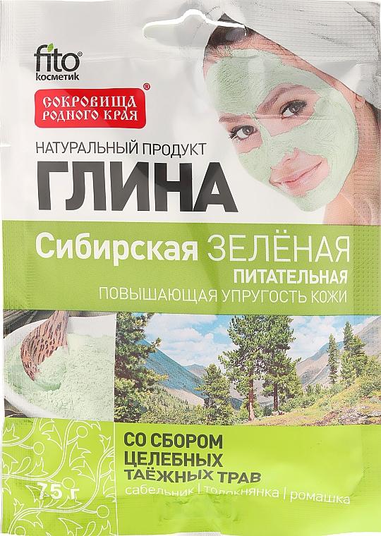 """Grüne Tonerde für Gesicht und Körper """"Sibirier"""" - Fito Kosmetik"""