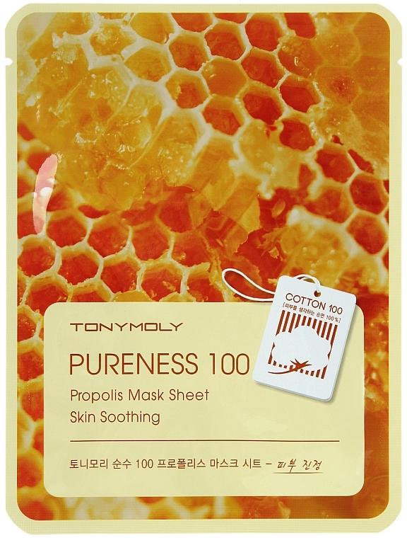 Beruhigende Tuchmaske mit Propolis - Tony Moly Pureness 100 Propolis Mask Sheet