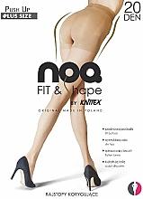 Düfte, Parfümerie und Kosmetik Figurunterstützende Damenstrumpfhose Push up 20 Den visone - Knittex