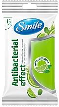 Düfte, Parfümerie und Kosmetik Antibakterielle Feuchttücher mit Vitaminen 15 St. - Smile Ukraine Antibacterial