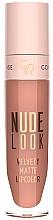 Düfte, Parfümerie und Kosmetik Flüssiger matter Lippenstift - Golden Rose Nude Look Velvety Matte Lipcolor