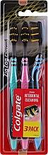 Düfte, Parfümerie und Kosmetik Zahnbürste mittel Zig Zag Charcoal blau, türkis, rosa 3 St. - Colgate