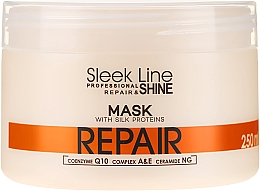 Düfte, Parfümerie und Kosmetik Reparierende Haarmaske mit Seidenprotein - Stapiz Sleek Line Repair Hair Mask
