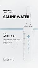 Düfte, Parfümerie und Kosmetik Feuchtigkeitsspendende Tuchmaske mit Salzwasserextrakt - Missha Mascure AC Care Solution Sheet Mask Saline Water