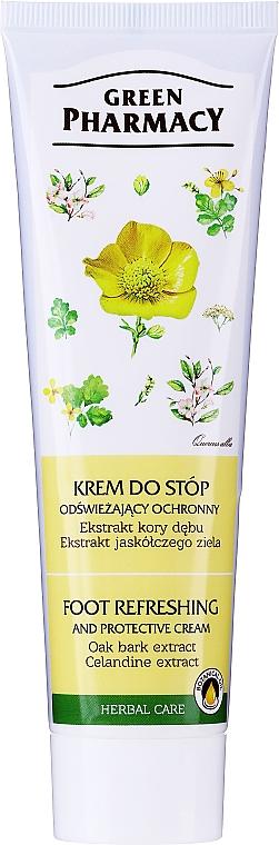 Erfrischende und schützende Fußcreme mit Schöllkraut und Eichenrinden - Green Pharmacy