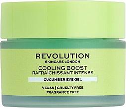 Düfte, Parfümerie und Kosmetik Augencreme mit Gurke - Revolution Skincare Cooling Boost Cucumber Eye Gel