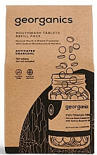 Düfte, Parfümerie und Kosmetik Mundwassertabletten mit Aktivkohle - Georganics Mouthwash Tablets Refill Pack Activated Charcoal (Refill)
