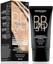 Düfte, Parfümerie und Kosmetik 5in1 BB Creme mit LSF 20 - Deborah BB 5-in-1 Foundation SPF20