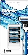 Düfte, Parfümerie und Kosmetik Ersatzklingen 4 St. - Gillette Mach3 Start Razor Blades