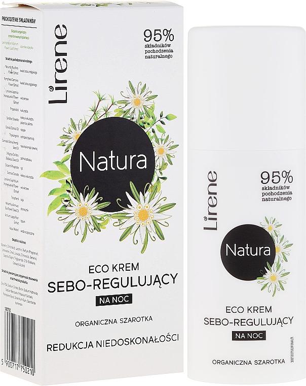 Seboregulierende Nachtcreme zur Reduzierung von Unreinheiten mit Edelweiß - Lirene Natura Eco Cream