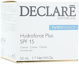 Feuchtigkeitsspendende und pflegende Gesichtscreme SPF 15 - Declare Hydroforce Plus SPF 15 Cream — Bild N1