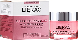 Düfte, Parfümerie und Kosmetik Hauterneuernde Anti-Aging Detox-Gesichtscreme für die Nacht - Lierac Supra Radiance Creme Renovatrice Detox Nuit