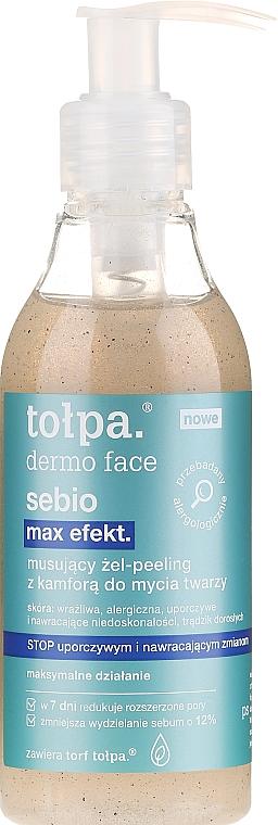 Reinigungsgel-Peeling für Gesicht mit Kampfer - Tolpa Dermo Face Sebio Max Efect Gel-peeling