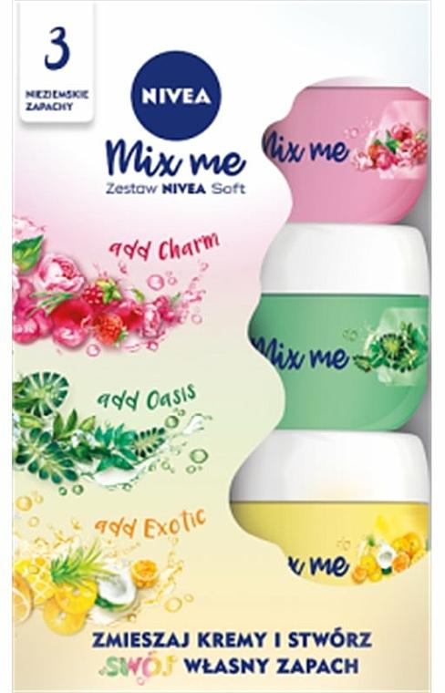 Gesichtspflegeset - Nivea Soft (Creme 50ml + Creme 50ml + Creme 50ml)